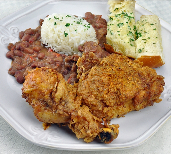 cajun chicken and red beans & rice