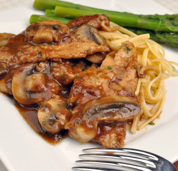 Chicken Marsala is gourmet quick & easy. Serve with pasta and a green vegetable.